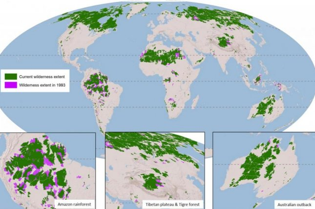 Tibetan Plateau On World Map.New Maps Reveal Shrinking Wilderness Around The Globe Upi Com