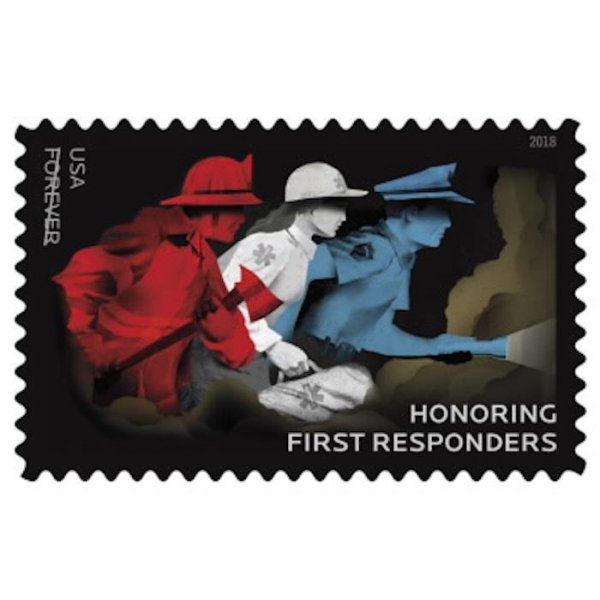 The U.S. Postal Service introduced a new stamp honoring the first responders who assisted during California's Thomas Fire. Photo courtesy USPS
