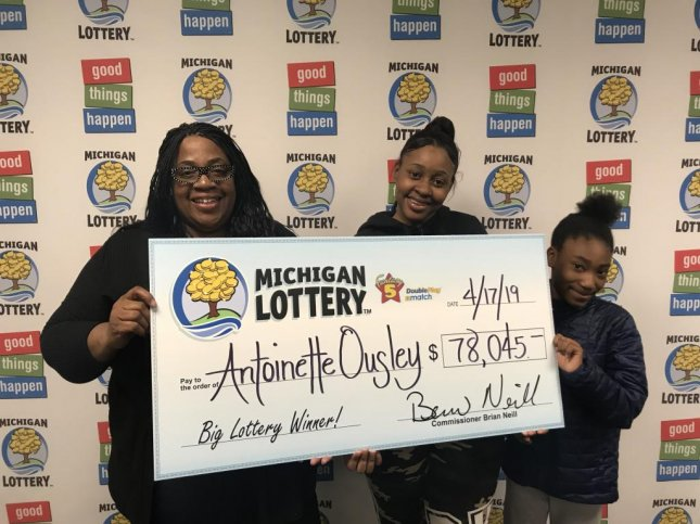 A Michigan woman said a mistake about her daughter's age led her to win a $78,000 lottery jackpot. Photo courtesy of the Michigan Lottery