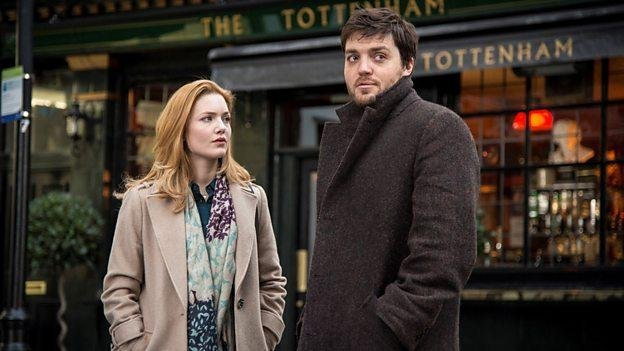TV stars Holliday Grainger and Tom Burke have begun filming a fourth miniseries based on the crime novels J.K. Rowling penned under the pseudonym Robert Galbraith.  Photo courtesy of the BBC.