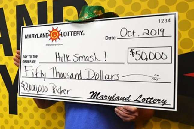 A Maryland man said winning a $40 prize from a scratch off ticket led to his winning $70 from the same game and finally a $50,000 prize from his third attempt. Photo courtesy of the Maryland Lottery
