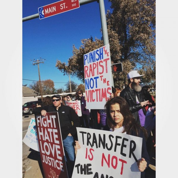 Yes ALL Daughters protests in Norman, Okla. Photo by Lauren B. Zuniga/Facebook