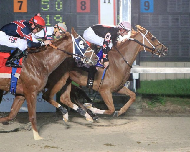 Freakonthelead paid $143 after winning Saturday's Pelican Stakes at Delta Downs in New Orleans. (Delta Downs photo)