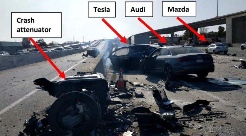 NTSB: Tesla vehicle sped up, didn't brake in California crash