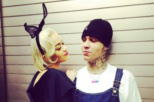 Rita Ora (L) and beau Ricky Hil will 'never' collaborate professionally. (Instagram/Ricky Hil)