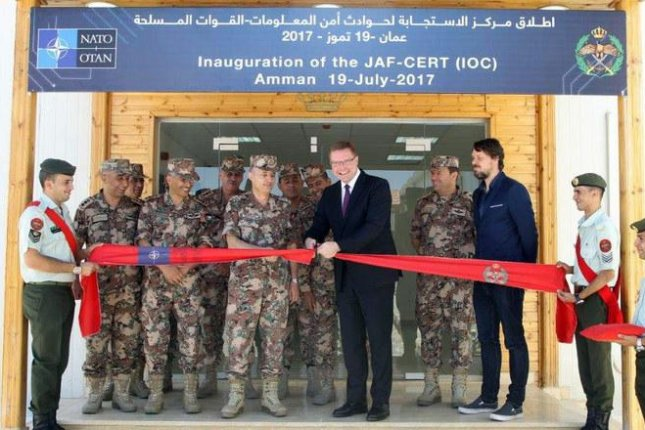 A ribbon-cutting ceremony for CERT in Amman, Jordan. Photo courtesy of NATO