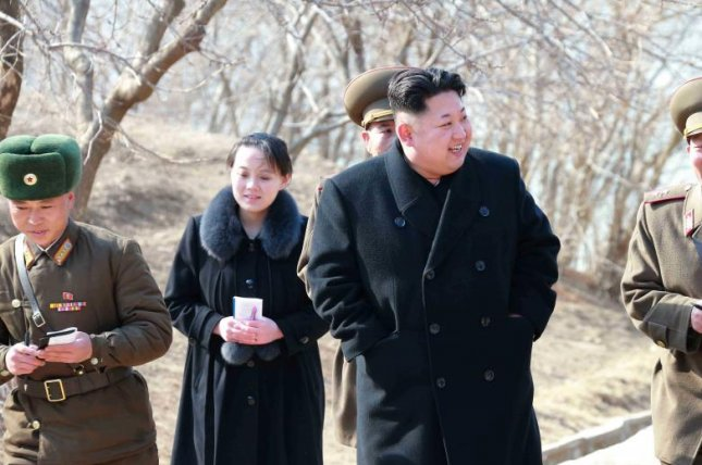 Kim Yo Jong, pictured alongside her brother and North Korean leader Kim Jong Un, was promoted to a member of the regime's Political Bureau. File Photo by KCNA/EPA
