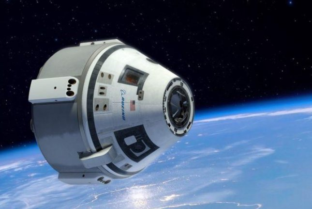 A rendering shows what Boeing's Starliner CST-100 capsule might look like in space. Image courtesy of Boeing
