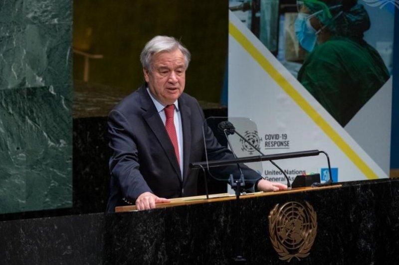 U.N. Secretary-General Antonio Guterres said the coronavirus pandemic has exposed inequalities and injustices in society.Photo by Eskinder Debebe/U,N. Photo