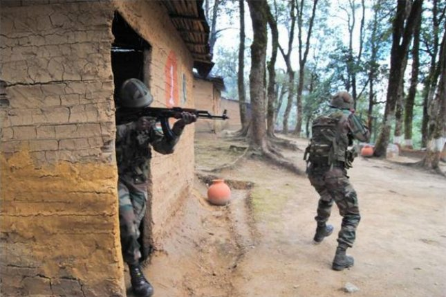 The Indian military on Wednesday carried out what it called surgical strikes against targets it considers terrorists in Pakistani-controlled Kashmir. Pakistan on Thursday said the incident was only a exchange of small-arms fire that killed two Pakistani soldiers. In this image, Indian soldiers carry out training exercises during a joint operation with the United States. Photo courtesy of Indian Ministry of Defense