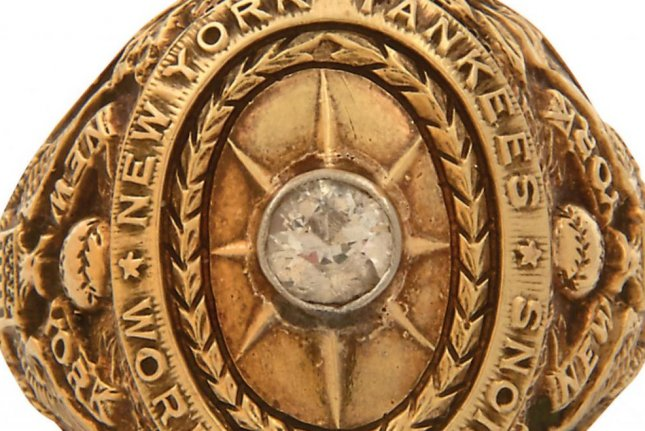 Babe Ruth's 1927 World Series ring from the New York Yankees is up for auction at Lelands.com. Photo courtesy of Lelands.com.