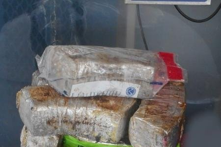 CBP officers seized packages containing 115 pounds of methamphetamine was seized Sunday at Pharr International Bridge in south Texas. Photo courtesy of U.S. Customs and Border Protection.