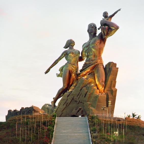 The African Renaissance monument in Dakar, Senegal, was built with heavy support from North Korean engineers. Senegalese have criticized the $12 million monument, saying the money could have been used to alleviate poverty. Photo courtesy of Onejoon Che