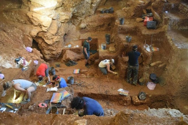 In a Portuguese cave, researchers unearthed evidence that modern humans occupied Western Europe as early as 41,000 years ago. Photo by Jonathan Haws/University of Louisville