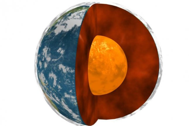 The mantle, which is sandwiched between Earth's crust and the outer core, is some 1,800 miles thick. Photo by JPL/NASA