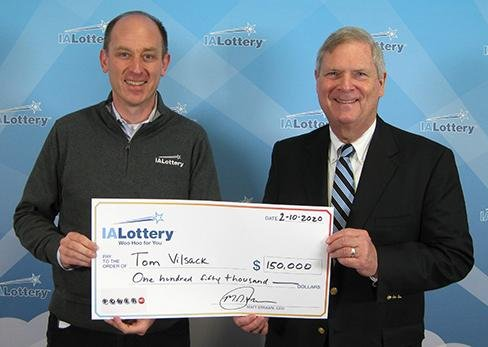 Former Iowa Gov. Tom Vilsack won a $150,000 prize from a Powerball drawing. Photo courtesy of the Iowa Lottery
