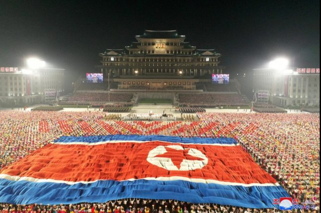 North Korea held a military parade early Thursday to mark the 73rd anniversary of its founding, state-run media reported. Photo by KCNA/EPA-EFE