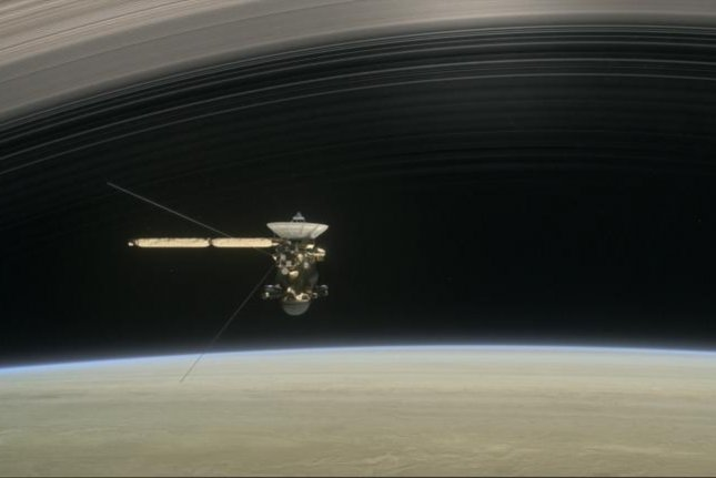 Cassini is preparing to make its first of five final Saturn flybys. Photo courtesy NASA/JPL
