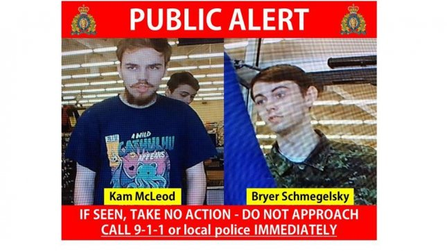 Autopsies released Monday showed that Canadian murder suspects Kam McLeod and Bryer Schmegelsky died of an apparent suicide by gunfire. Photo courtesy B.C. RCMP