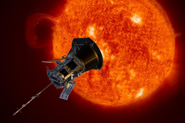 The Parker Solar Probe is currently circling the sun at a distance closer than any previous spacecraft. Photo by NASA/Johns Hopkins APL/Steve Gribben