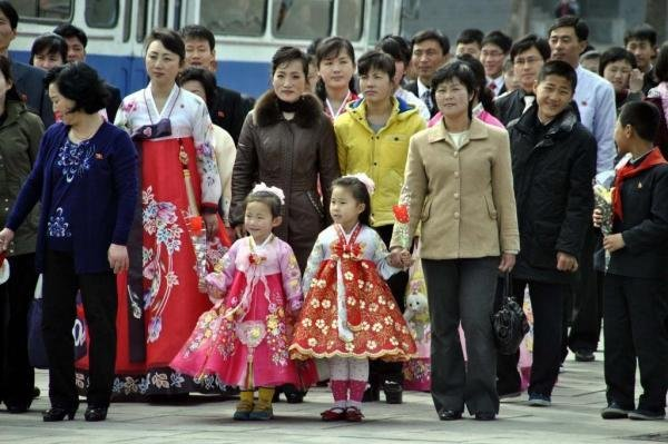 The wealthiest residents of Pyongyang, North Korea, are holding extravagant wedding celebrations and are paying for the events in U.S. dollars, according to a source. File Photo by Choson Sinbo/Yonhap