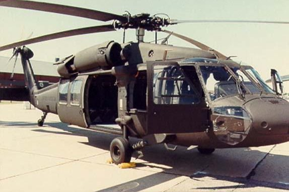 A suppressor by Sikorsky and the LORD Corporation lessened vibrations on a Black Hawk helicopter. (U.S, Army photo/Richard C. Marshall)
