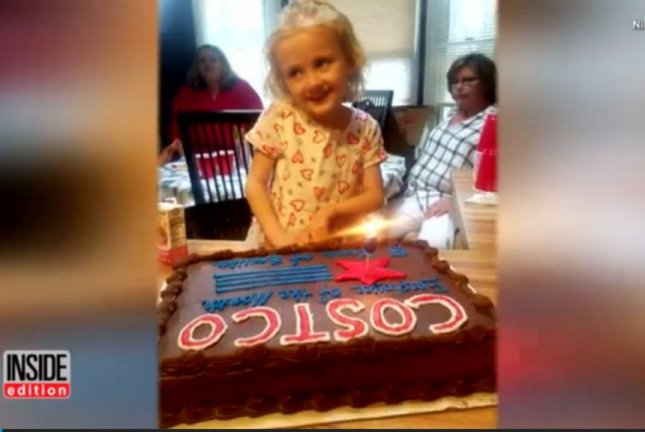 A 5-year-old North Carolina girl requested a Costco theme for her birthday party. Screenshot: Inside Edition