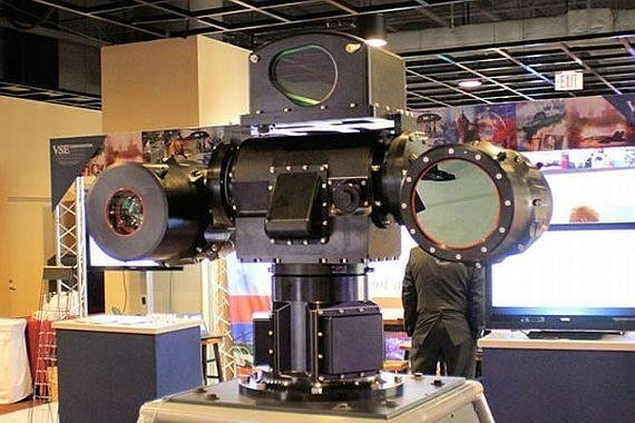 The Mk 20 electro-optical sensor system, pictured, is a major component of the Mk 34 gun weapon systems used on the Navy's Arleigh Burke-class destroyers and Ticonderoga-class cruisers, as well as the Coast Guard's offshore patrol cutters. Photo courtesy of the Department of Defense