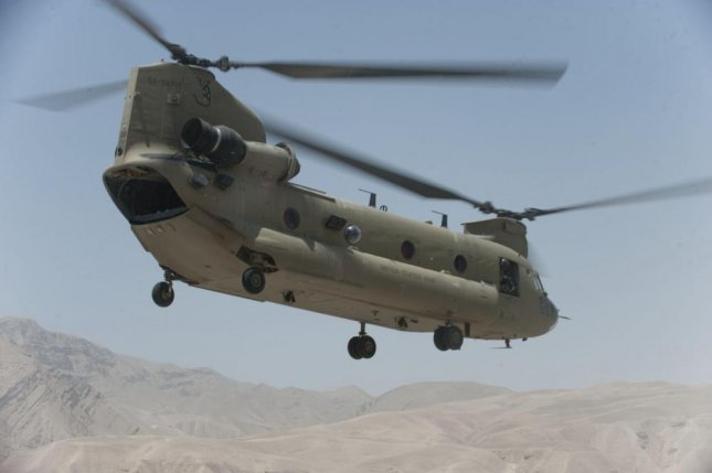 A CH-47F Chinook conducts a mission in northern Afghanistan in this June 2011 photo. On Thursday the State Department approved a potential sale of fourCH-47F helicopters to the government of Australia. Photo by Jonathan David Chandler/U.S. Army