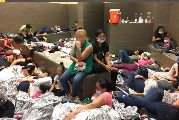 A June 11 image from the Office of Inspector General report shows overcrowding at the Border Patrol's Weslaco station in Texas. Photo courtesy of Office of the Inspector General