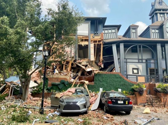 Police said the cause of the house explosion in a suburb north of Atlanta was under investigation. Photo courtesy of DeKalb County Fire Rescue Department/Facebook