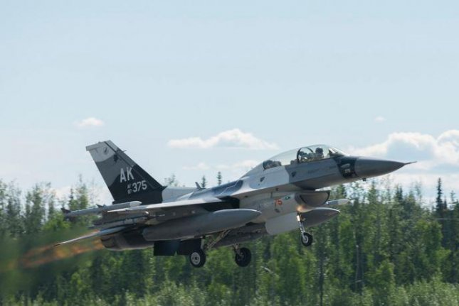 Personnel of the air forces of four countries -- the United States, Japan, Thailand and South Korea -- are conducting Red Flag-Alaska, a 16-day exercise of simulated air combat at two U.S. Air Force bases in Alaska. Photo courtesy of U.S. Air Force