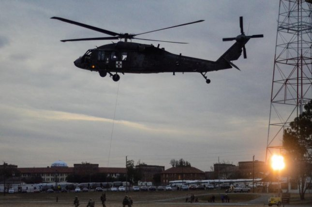 In this 2018 photo, the crew of a UH-60M Black Hawk helicopter conduct a Pathfinder demonstration on Eubanks Field. This week the State Department approved the possible sale of aUH-60M helicopter to the government of Jordan.Photo by Megan Garcia/Department of Defense