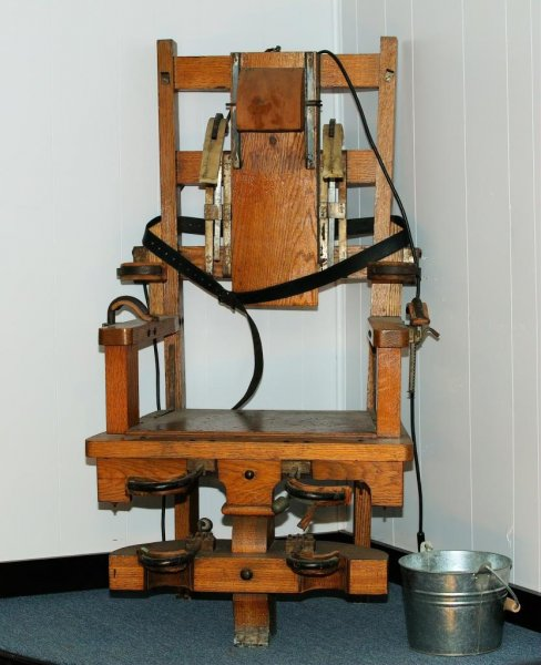 Electric chairs in the United States have been given names such as Old Sparky and Old Smokey. File Photo by Keith McIntyre/Shutterstock