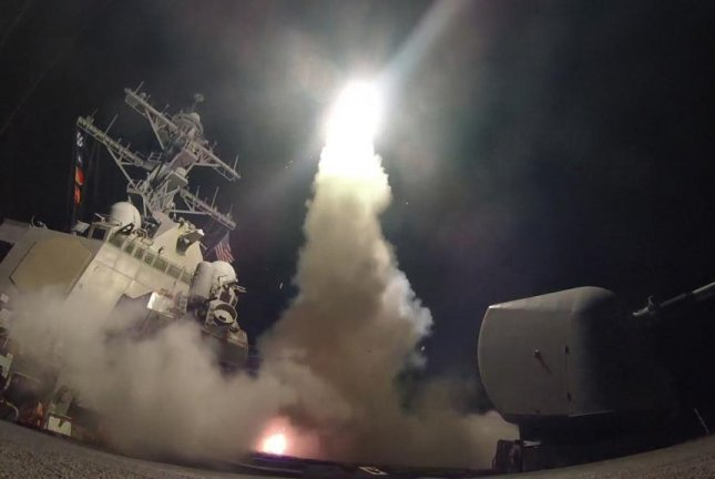 The USS Porter fires a missile during an exercise in the Mediterranean. U.S. Navy photo