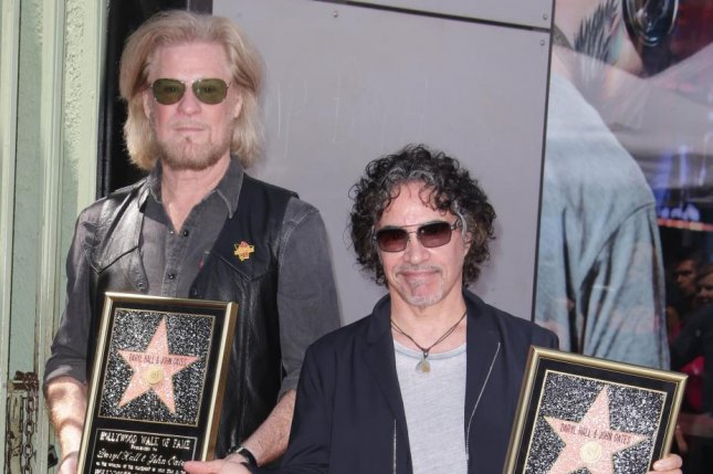 Daryl Hall (L) and John Oates are set to embark on a co-headlining tour along with Train. Photo courtesy of Mike Nelson/UPI