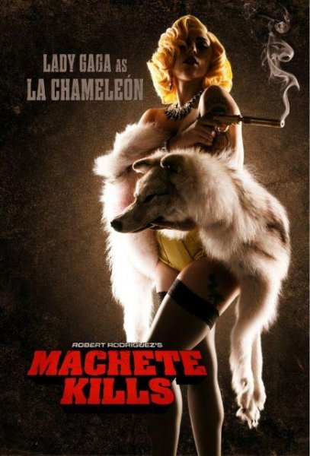 Machete Kills poster featuring Lady Gaga. From director Robert Rodriguez's Twitter account.