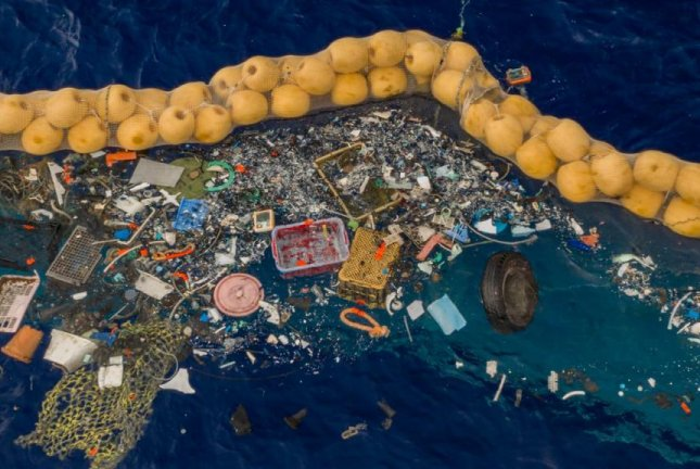 The Ocean Cleanup's System 001/B has found success at gathering trash in the Great Pacific Garbage Patch where the first version failed, the company announced. Photo courtesy of The Ocean Cleanup