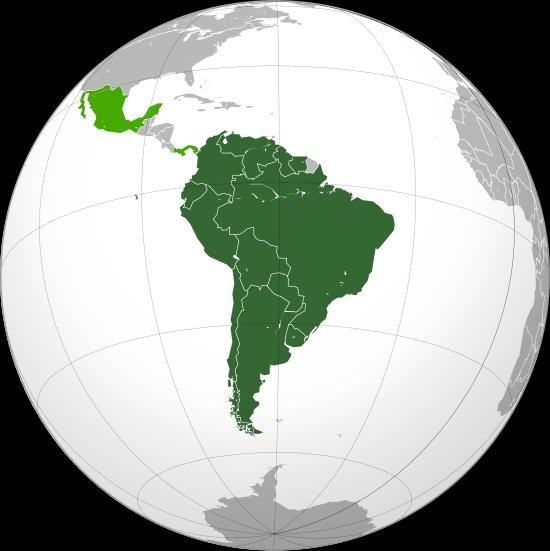 Members and observer states of the Union of South American Nations (Image courtesy of Wikipedia).