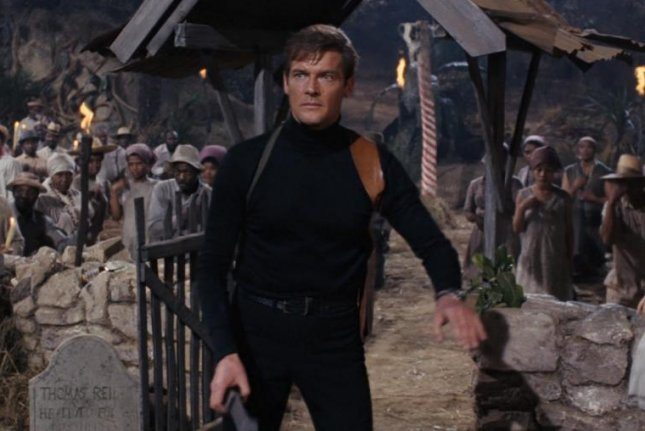 Roger Moore as James Bond in 'Live and Let Die' (1973). United Artists