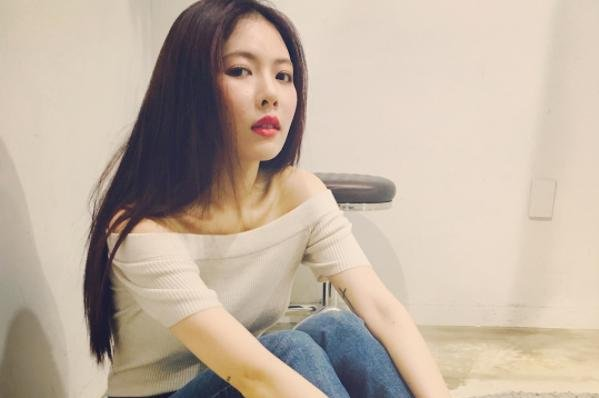 Hyuna on August 17. The K-pop star released her sixth EP, Following, and a music video for Babe on Tuesday. Photo by Hyuna/Instagram