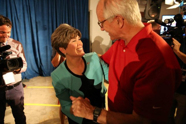 Joni Ernst, Republican Senate candidate from Iowa, celebrates her primary election victory on June 3, 2014. Facebook