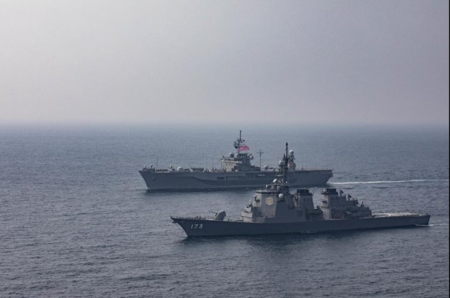 The USS Blue Ridge participated in an exercise with the Japan Maritime Self-Defense Force's JS Kongo this week. Photo courtesy of U.S. Navy