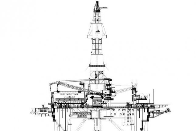 Wellesley Petroleum makes a minor oil discovery in a frontier area of the North Sea using the Transocean Arctic rig. Schematic courtesy of Transocean