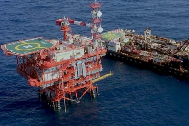 Production started Wednesday at the giant Zohr natural gas field off the coast of Egypt, one of the largest fields in the world. Photo courtesy of Eni