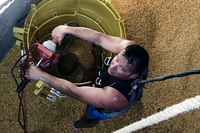 Thirty-nine people died in grain bin accidents in 2019, according to Purdue University. Photo courtesy of the Burlington (Iowa) Fire Department