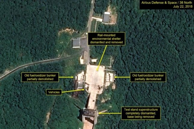Trump pleased as North Korea seen dismantling launch site parts