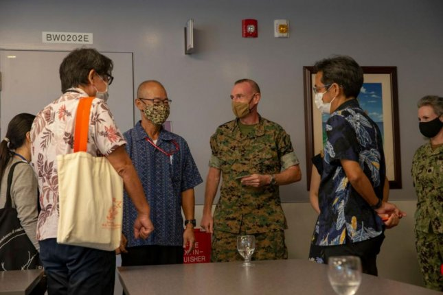 The U.S. Marine Corps credited a close relationship with the Okinawa Prefecture Government's Health Department for slowing the COVID-19 outbreak at its Okinawa bases. Photo by LCpl. Karis Mattingly/U.S. Marine Corps