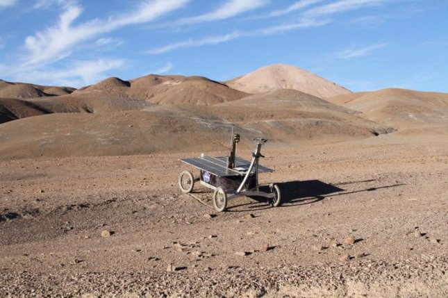 During a trial NASA rover mission in Chile's Atacama desert, scientists found microbes adapted to Mars-like subsurface soil. Photo by Stephen B. Pointing