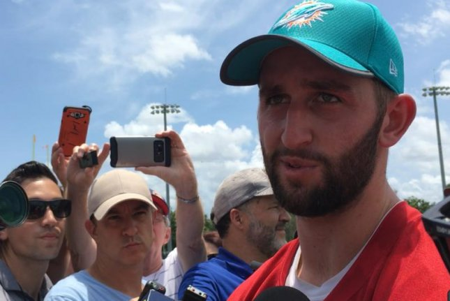 Josh Rosen is now a member of the Miami Dolphins, following an off-season trade with the Arizona Cardinals. He is competing with veteran Ryan Fitzpatrick for the Dolphins' starting quarterback job. Photo by Alex Butler/UPI